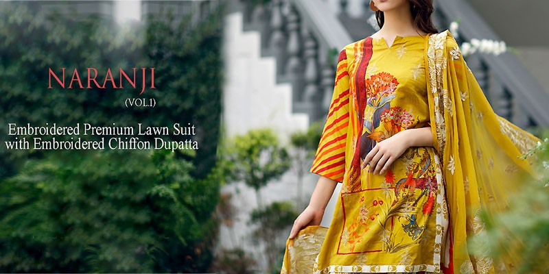 Charizma Naranji Embroidered Lawn Collection 2020