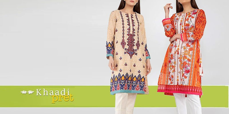 Khaadi Pret Embroidered Kurta 2019
