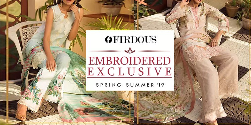 Firdous Embroidered Exclusive 2019 Collection