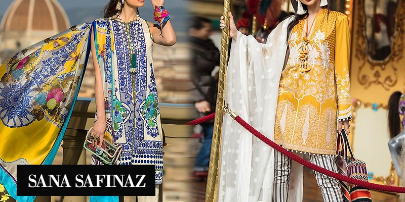 Sana Safinaz Luxury Lawn Collection 2019