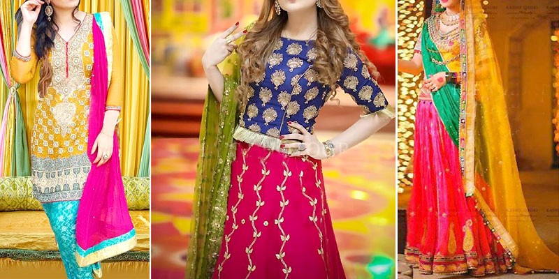 Best Mehndi Dresses Color Combinations