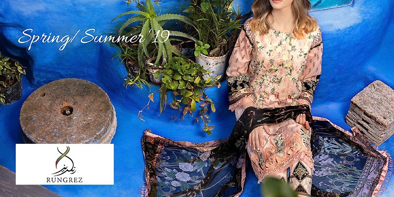 Rungrez Summer Lawn Collection 2019