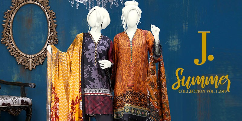 Junaid Jamshed Semi-Formal Stitched Collection 2019