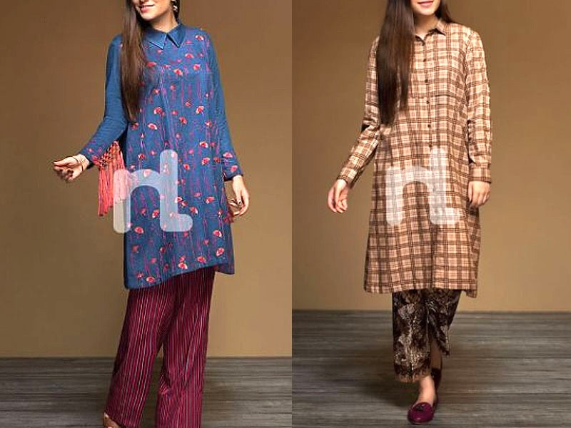 Heavy Embroidered Linen Dress with Wool Shawl Dupatta