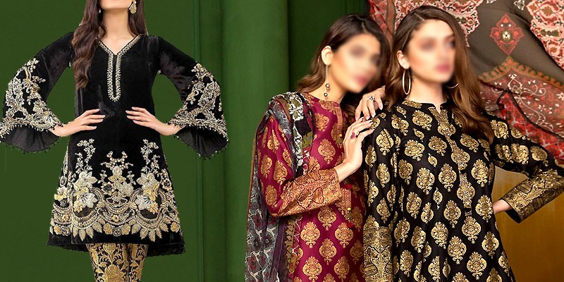 Trendy Pakistani Winter Dresses Designs 2019-20