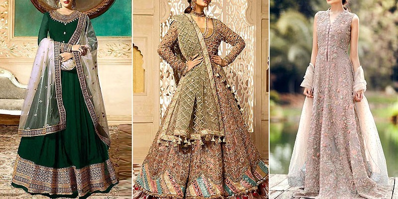 Latest Pakistani Maxi Dress Designs 2021 for Wedding