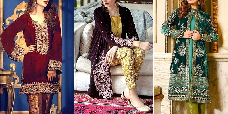 Velvet Dresses in Pakistan