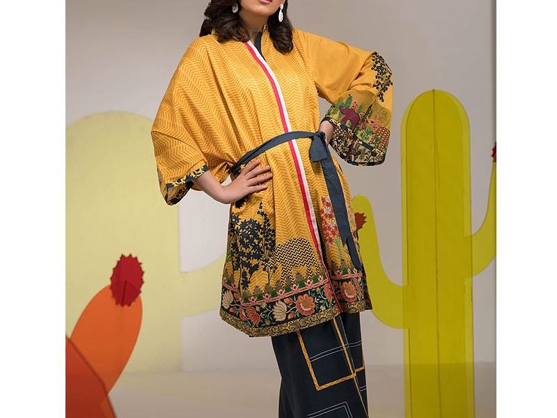 Embroidered Lawn Suit with Chiffon Dupatta