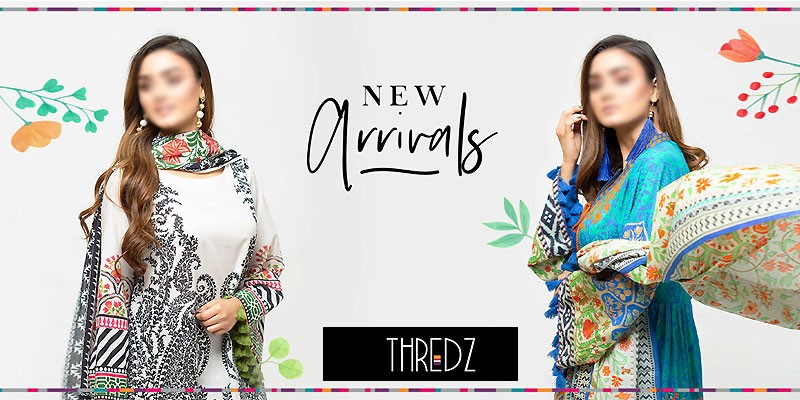 THREDZ Unstitched Summer Lawn Collection 2020