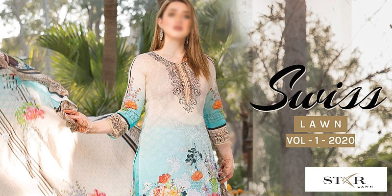 Star Swiss Lawn Collection 2020 VOL-1