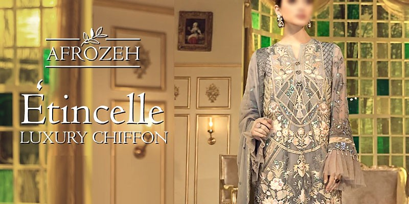 Afrozeh Etincelle Luxury Chiffon Collection 2020