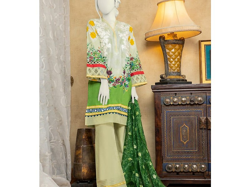 Embroidered Airjet Lawn Dress with Chiffon Dupatta