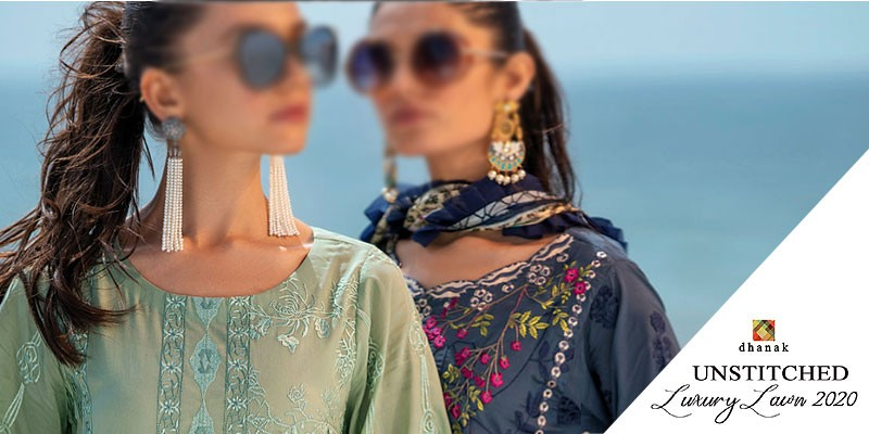 Dhanak Unstitched Luxury Lawn Collection 2020