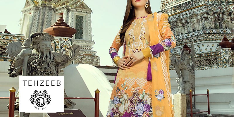 Tehzeeb Lawn Collection 2020 by GullJee