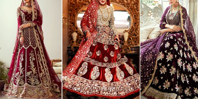 Winter Velvet Bridal Dresses 2020-2021 in Pakistan