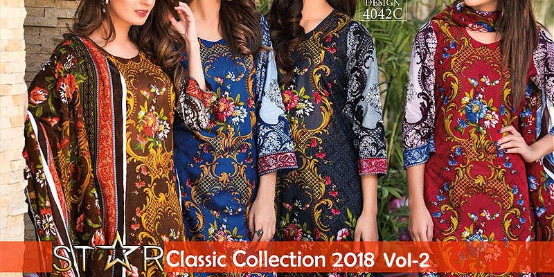 Star Classic Lawn 2018 Vol-2 by Naveed Nawaz Textiles
