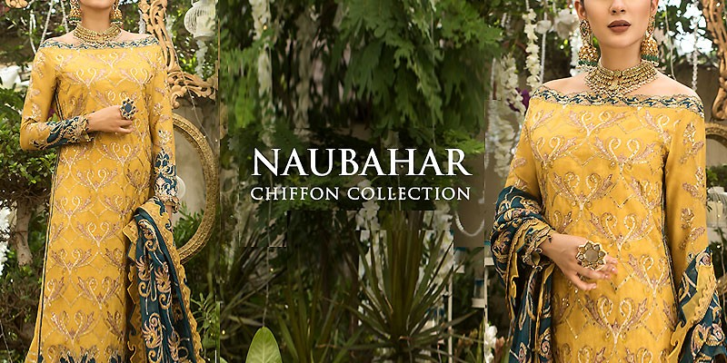 Asim Jofa Naubahar Chiffon Collection 2020-21