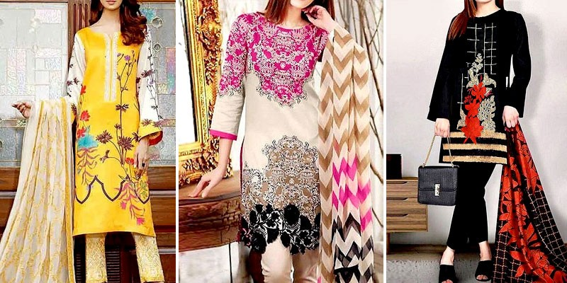 Winter Linen Dresses in Pakistan 2020-21