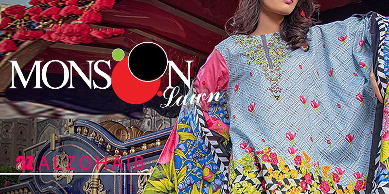 Al-Zohaib Moonsoon Lawn 2018 Collection Vol-2