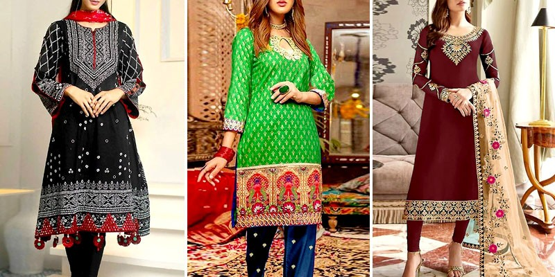 Ladies Cotton Suits Designs 2021 in Pakistan