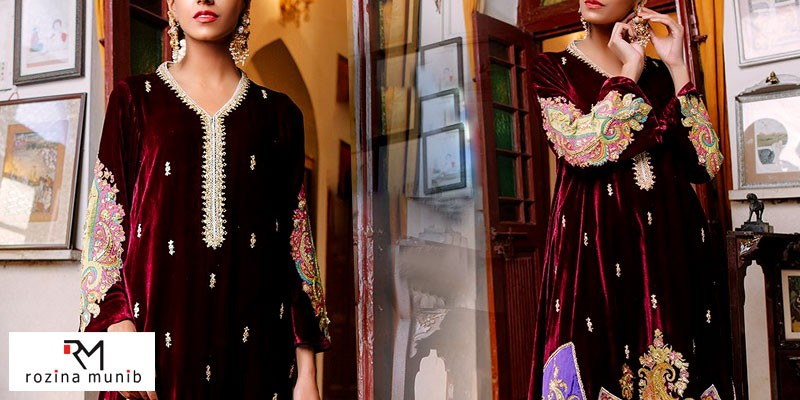Rozina Munib Winter Velvet & Silk Collection 2021