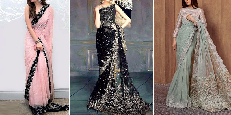 Trend of Saree Dresses for Wedding in Pakistan