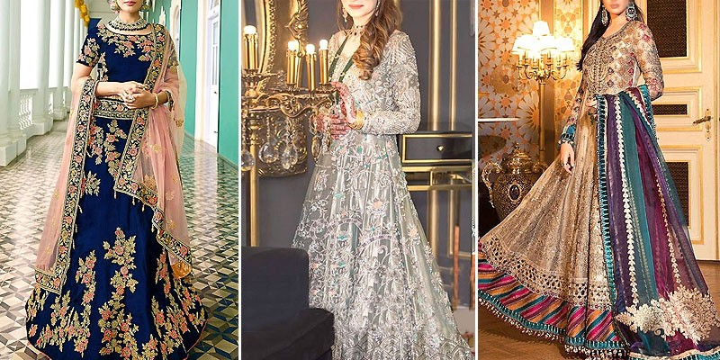 Latest Bridal Maxi Dresses Designs 2021 in Pakistan