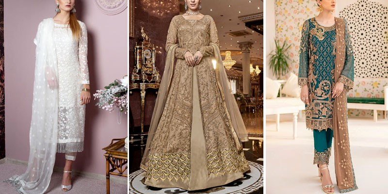 Net Bridal & Party Wear Dresses 2021 in Pakistan