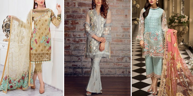 Organza Formal Party Wear Dresses 2021 in Pakistan