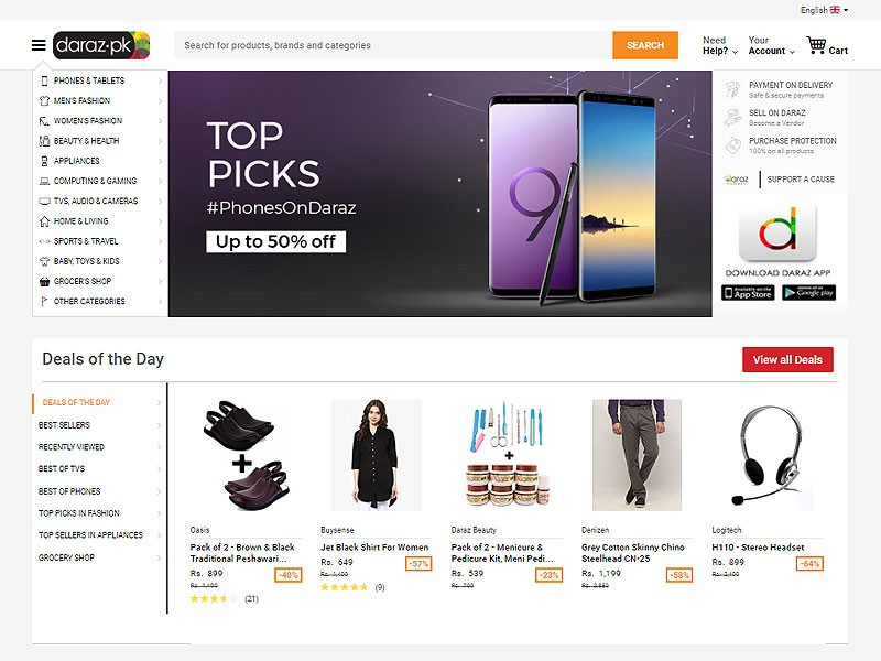 Top Online Shopping Websites in Pakistan