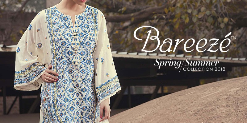 Bareeze Spring Summer Lawn Collection 2018 with Price