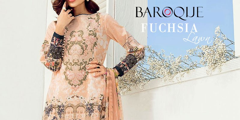 Baroque Fuchsia Lawn Collection 2018