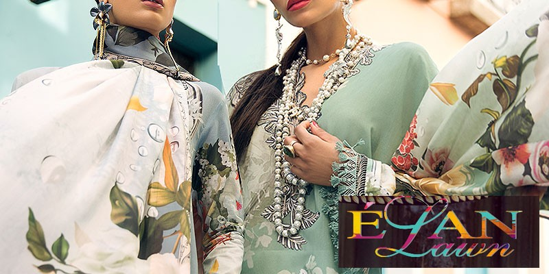 Elan Luxury Lawn Collection 2018