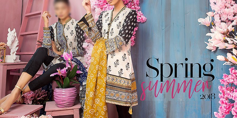 Orient Embroidered Lawn Collection 2018