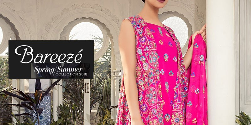 Bareeze Swiss Lawn Collection 2018 Vol-1