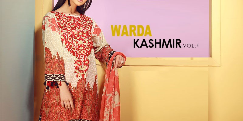 Warda Kashmir Lawn Collection 2018
