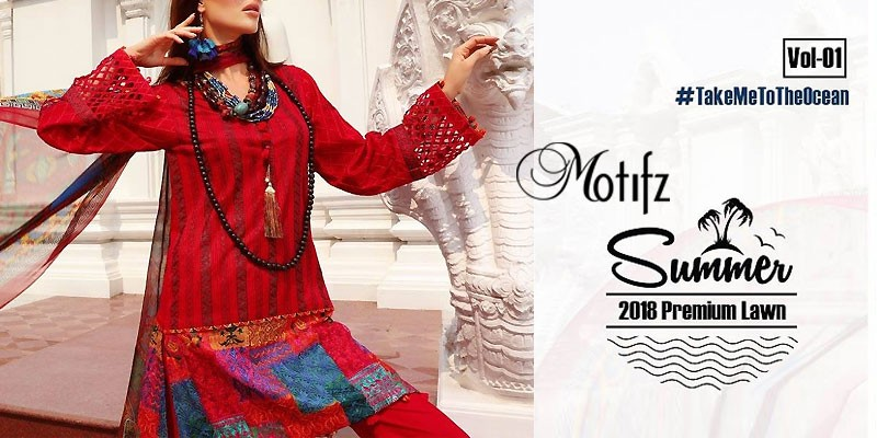 Motifz Premium Embroidered Lawn 2018 Volume 1