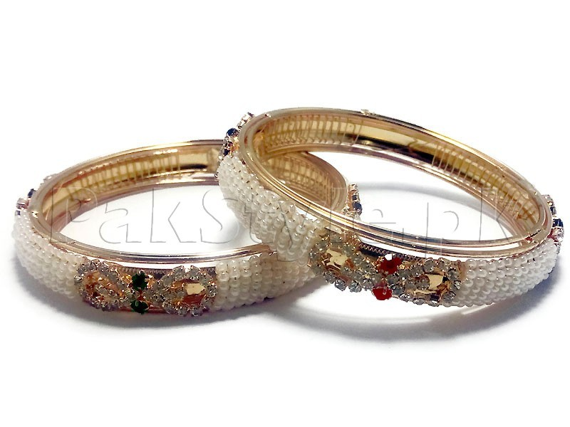 Indian Pearl Bangles Set