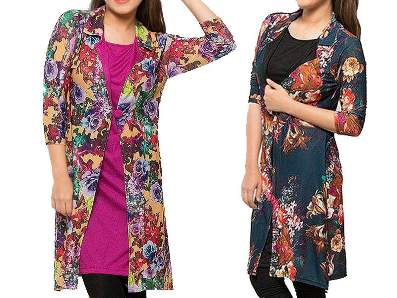 Pack of 2 Shrug Style Floral Tops