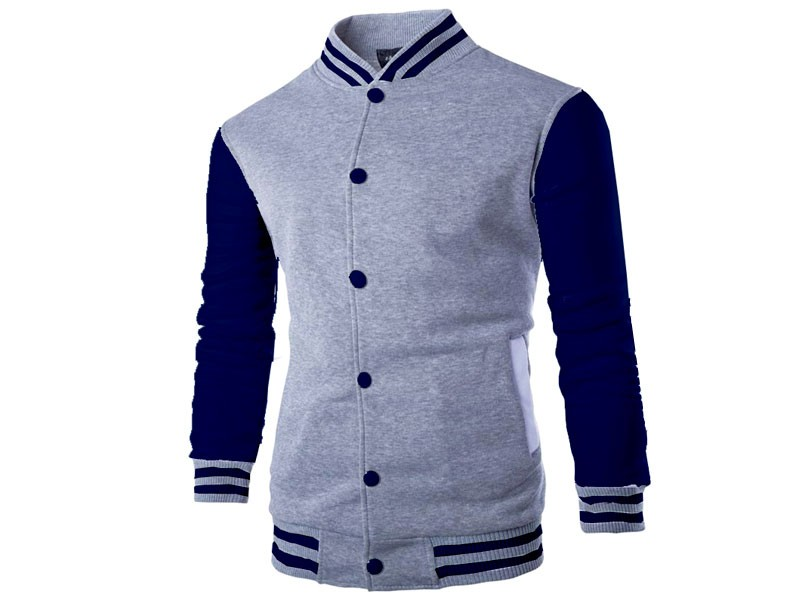 Men's Baseball Jacket - Grey Price in Pakistan (M010034) - Check ...
