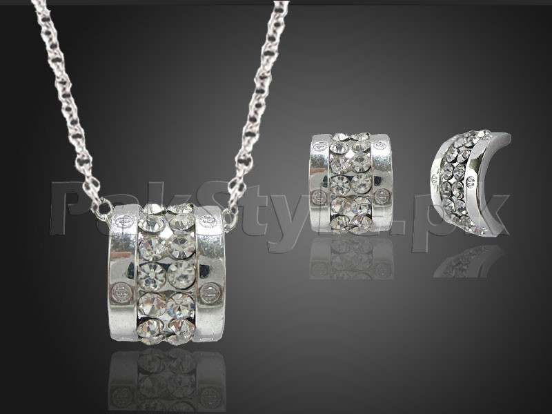 Delicate Silver Jewelry Set Price in Pakistan
