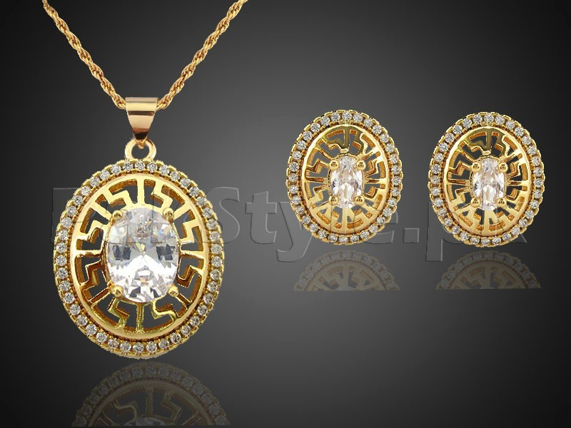 Fashion Golden Necklace Set