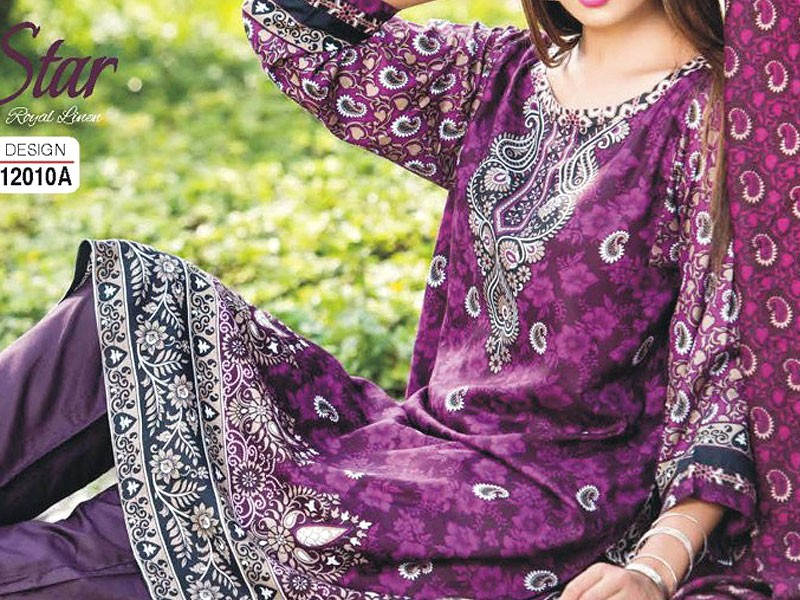 Star Royal Linen Suit with Shawl Dupatta 12010-A Price in Pakistan