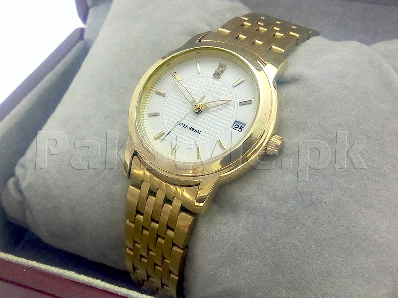 Elegant Ladies Golden Watch