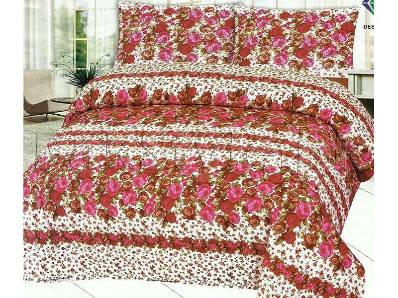 Pack of 2 Crystal Cotton Bedsheets in Pakistan