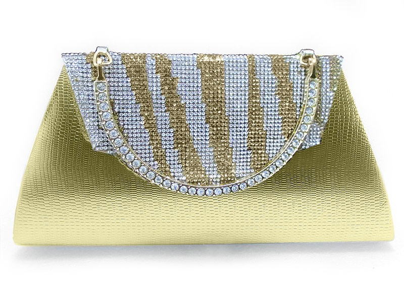 Girls Fancy Clutch Bag - Golden Price in Pakistan