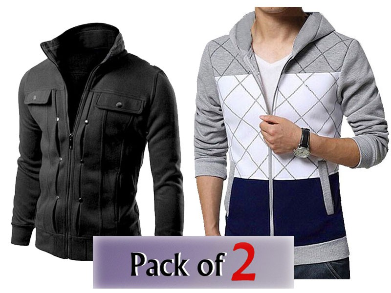 Pack of 2 Men's Jacket & Winter Hoodie