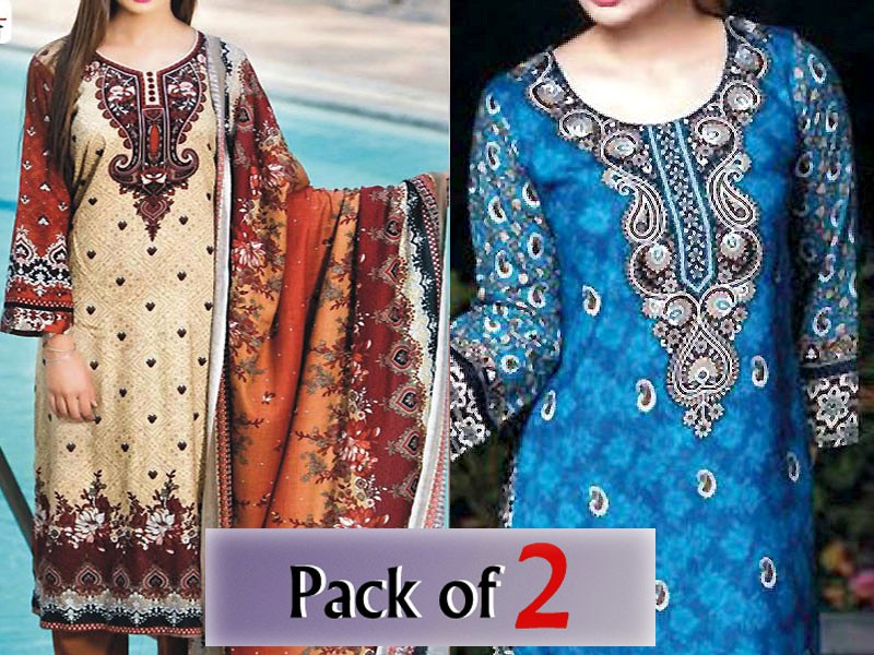 Pack of 2 Star Royal Linen Suits of Your Choice Price in Pakistan