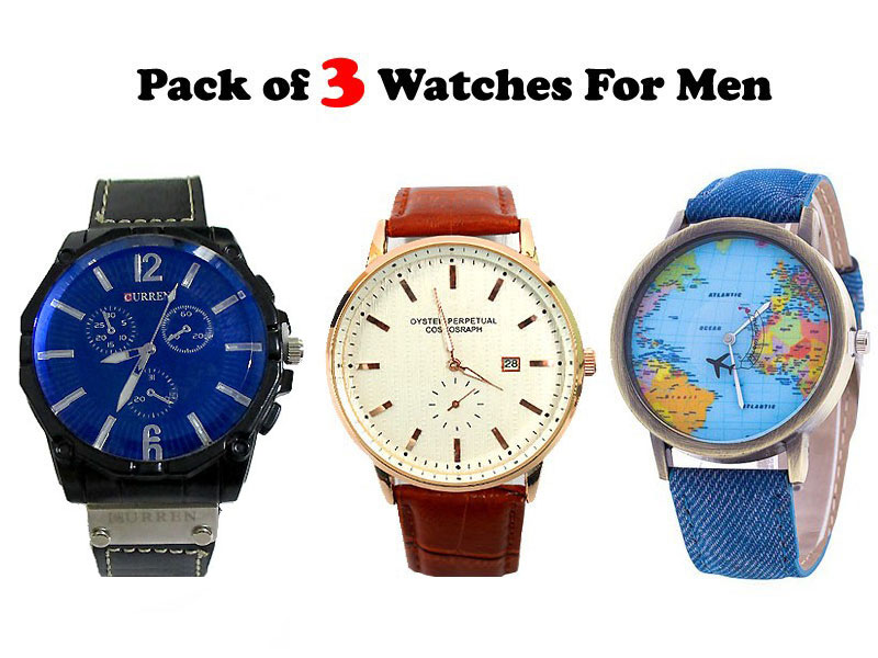 Pack of 3 Stylish Men's Watches