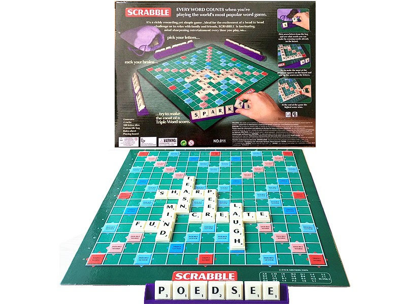 Scrabble Word Crossword Game Set